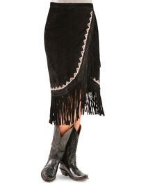 Kobler Leather Women's Yuma Fringe Suede Skirt, , hi-res