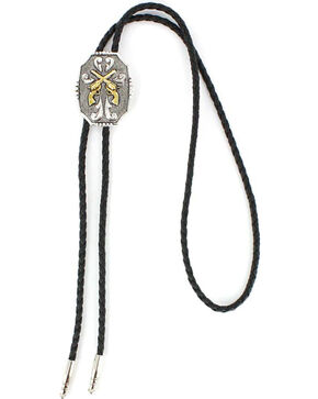 Cody James® Men's Crossed Pistols Bolo Tie, Multi, hi-res