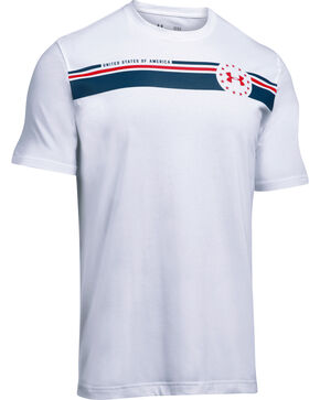 Under Armour Men's White 4th of July T-Shirt, White, hi-res