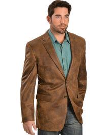 Vintage Leather Men's Distressed Faux Leather Blazer, , hi-res