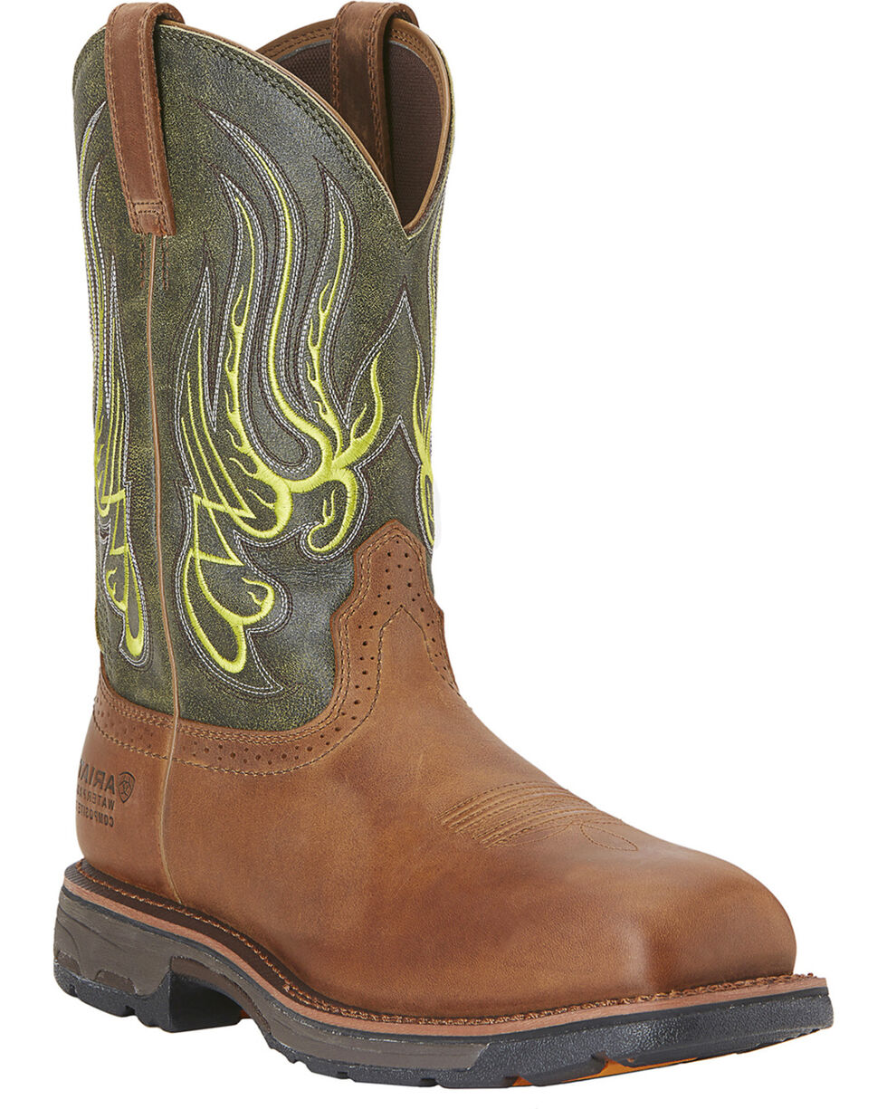 Ariat Men's Western Workhog Mesteno WP CT Work Boots, Rust, hi-res