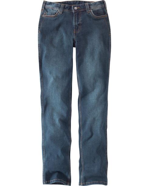 Carhartt Women's Nyona Straight Leg Jeans - Regular, Indigo, hi-res