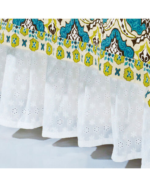 HiEnd Accents Eyelet Full Bed Skirt, White, hi-res