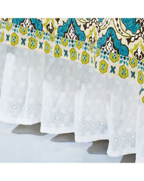 HiEnd Accents Eyelet Twin Bed Skirt, White, hi-res
