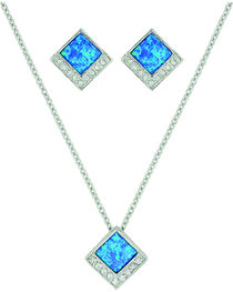 Montana Silversmiths Women's River of Light Infinity Pool Jewelry Set, , hi-res