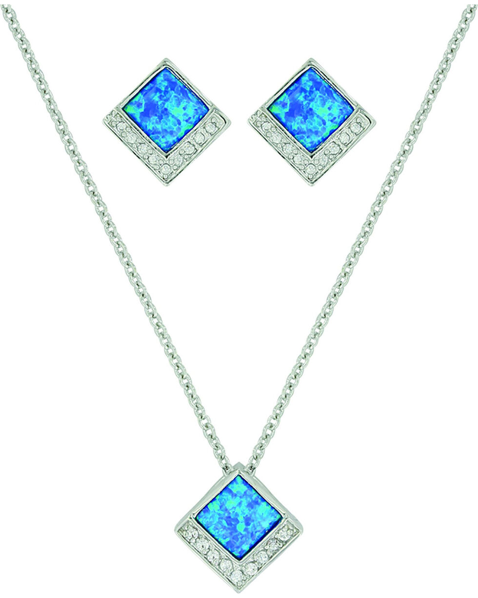 Montana Silversmiths Women's River of Light Infinity Pool Jewelry Set, No Color, hi-res