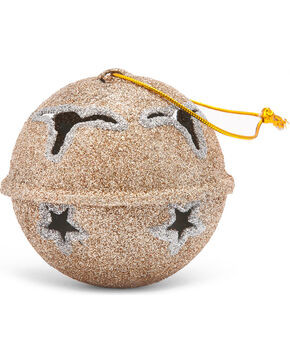 BB Ranch® Glitter Jingle Bell Ornament, No Color, hi-res