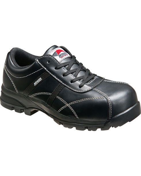 Avenger Women's Black Oxford Work Shoes - Composite Toe, Black, hi-res