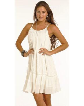 Rock & Roll Cowgirl Women's Cream Adjustable Strap Dress , Cream, hi-res