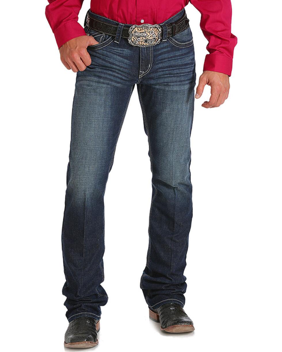 Cinch Men's Ian Slim Boot Cut Performance Jeans, Indigo, hi-res