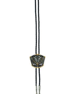 AndWest Men's Elk Skull Bolo Tie, Multi, hi-res