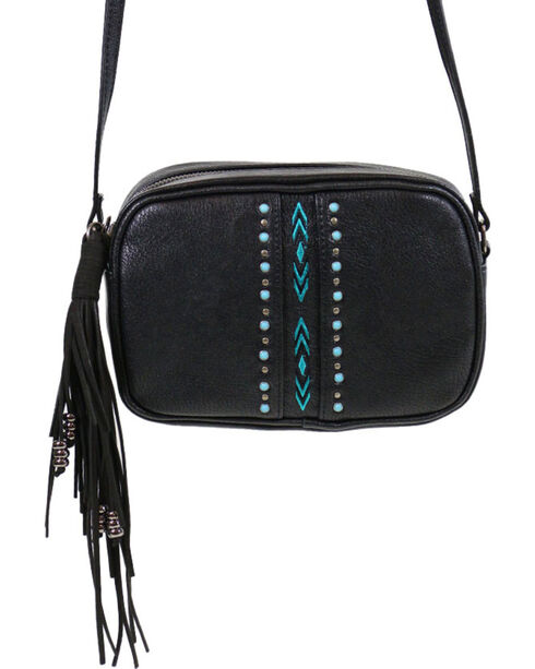 Shyanne® Women's Embroidered Crossbody, Black, hi-res