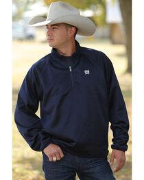 Cinch Men's Navy Fleece 1/4 Sweater Pullover - Big , , hi-res