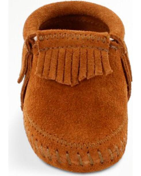Minnetonka Infant Girl's Riley Moccasin Booties, Brown, hi-res