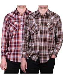 Ely Walker Men's Assorted Plaid Long Sleeve Shirt, , hi-res