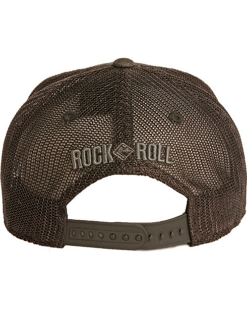 Rock & Roll Cowboy Black Denim And Mesh Cap, Black, hi-res