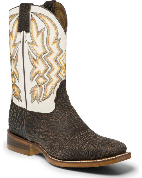 "Nocona Men's 11"" Western Boots, Chocolate, hi-res"
