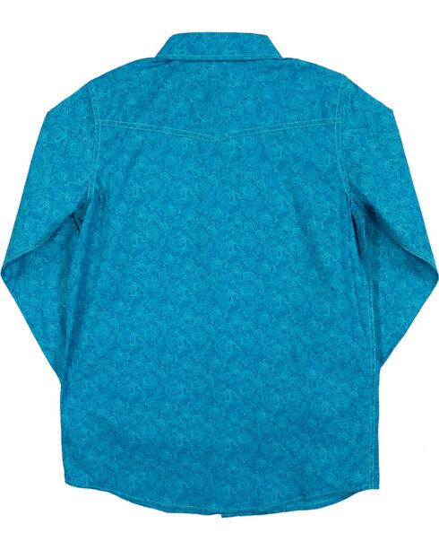 Cody James® Boys' Paisley Long Sleeve Shirt, Turquoise, hi-res