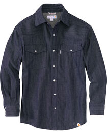 Carhartt Men's Ironwood Denim Work Shirt - Big & Tall, , hi-res