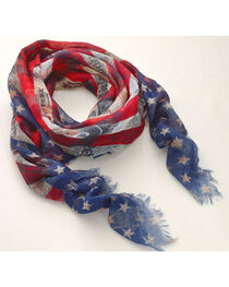 Big Sky Carvers Women's Stars and Stripes Scarf , , hi-res