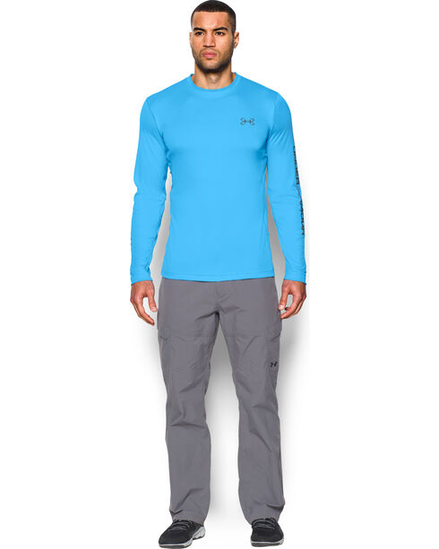 Under Armour Fish Hunter Tech Long Sleeve Shirt, Light Blue, hi-res