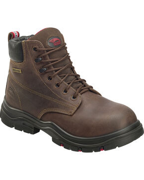 "Avenger Men's 6"" Lace Up Composite Work Boots, Brown, hi-res"