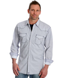 Wrangler Men's Navy Print 20X Advanced Comfort Competition Shirt , , hi-res
