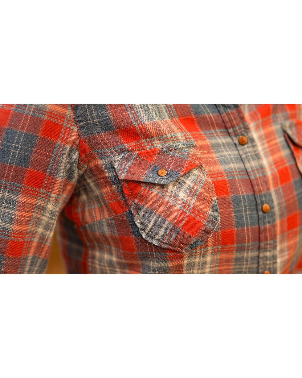 Ryan Michael Women's Frost Jaspe Plaid Shirt , Indigo, hi-res