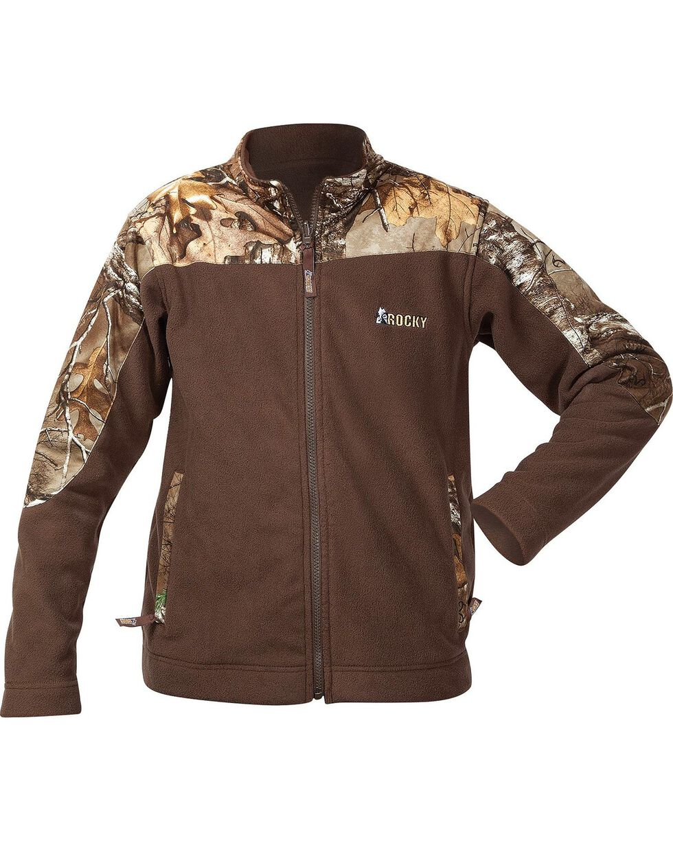 Rocky Boys' Realtree Camo Fleece Jacket, Brown, hi-res