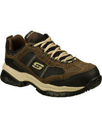 Skechers Men's Brown Soft Stride Grinnell Slip Resistant Work Shoes - Comp Toe, , hi-res