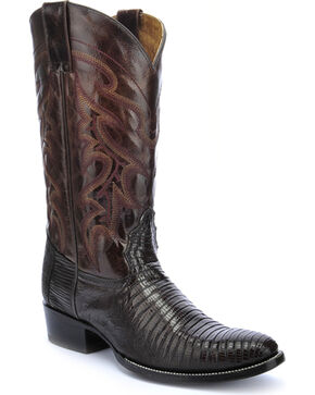 Circle G Men's Teju Lizard Exotic  Boots, Chocolate, hi-res