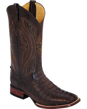 Ferrini Men's Caiman Crocodile Exotic Western Boots, Chocolate, hi-res