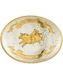 Western Express Men's Silver Bullrider Trophy Belt Buckle , , hi-res