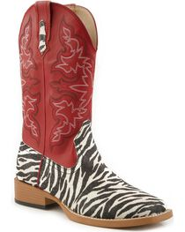 Roper Women's Glitter Zebra Western Boots, , hi-res