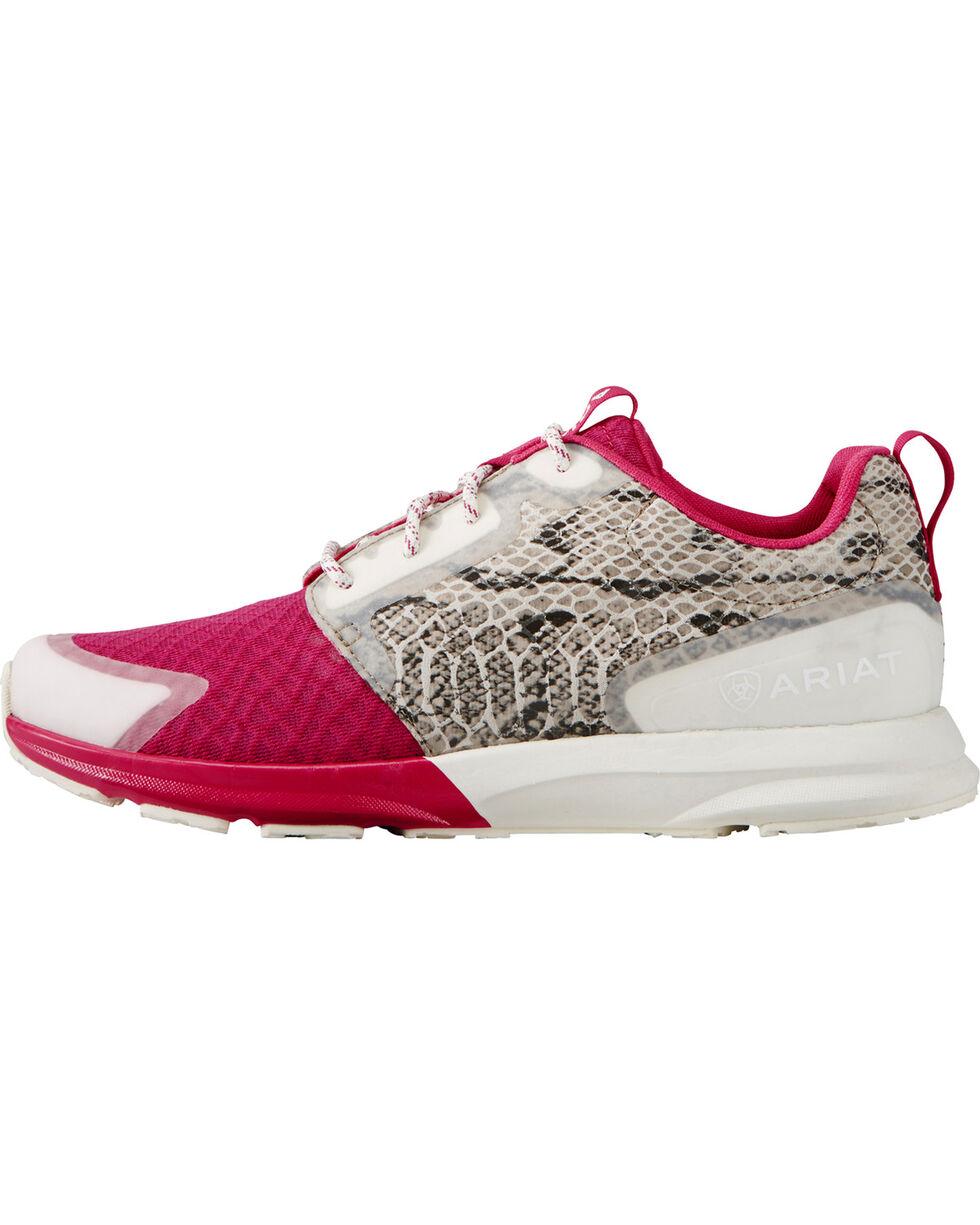 Ariat Women's Fuse Rattlesnake Print Sneakers, Pink, hi-res