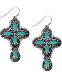 Shyanne® Women's Concho Cross Earrings, , hi-res