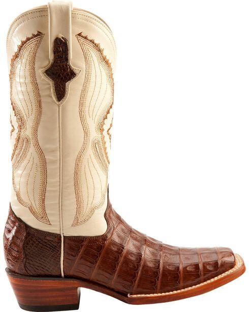 Ferrini Women's Caiman Crocodile Belly Square Toe Western Boots, Chocolate, hi-res