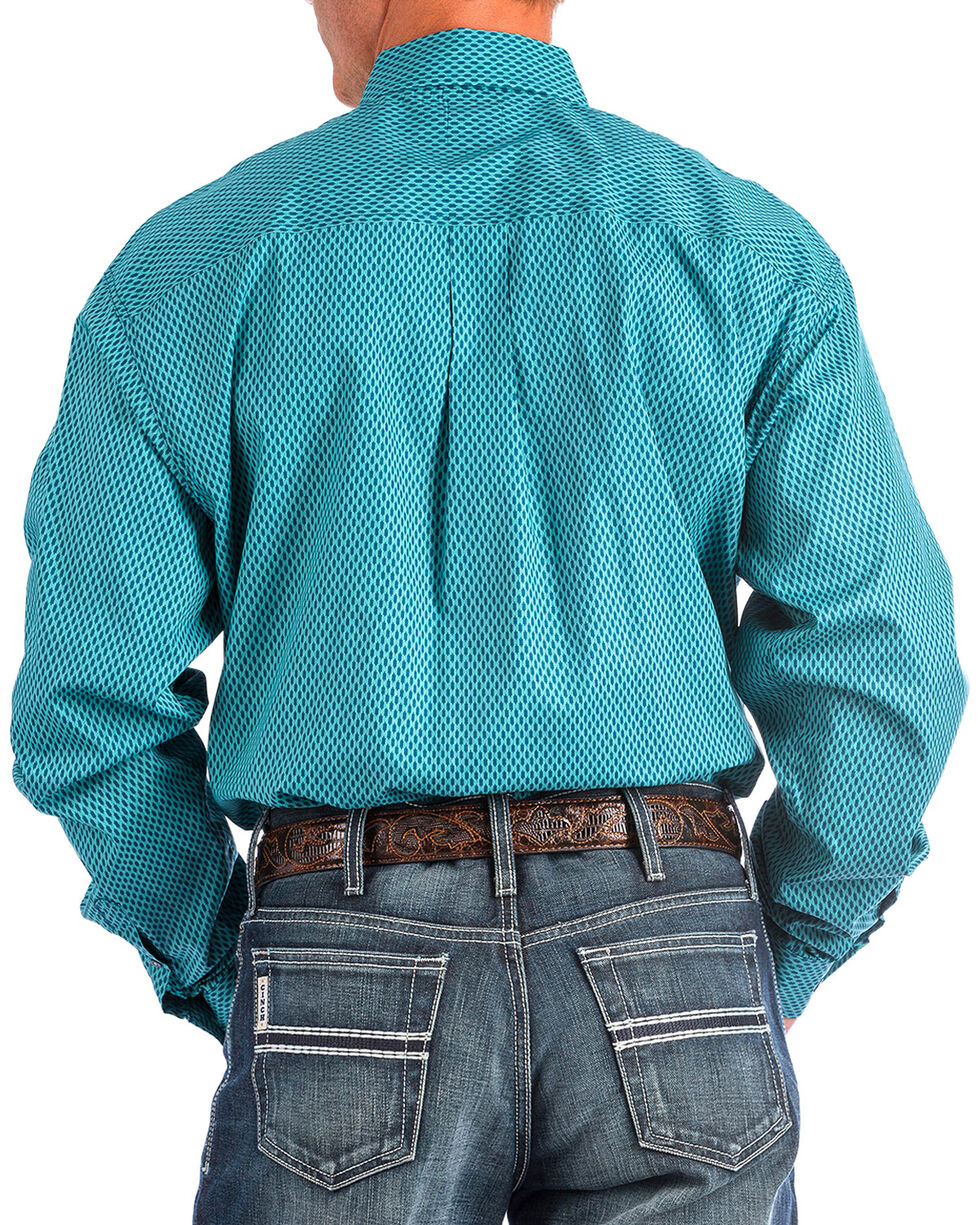 Cinch Men's Navy Match Dad Printed Shirt , Navy, hi-res