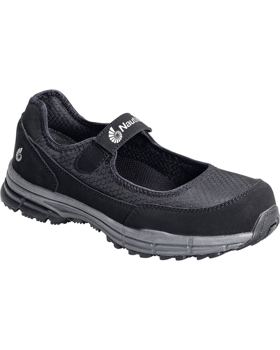 Nautilus Women's ESD Velcro Safety Shoes, Black, hi-res