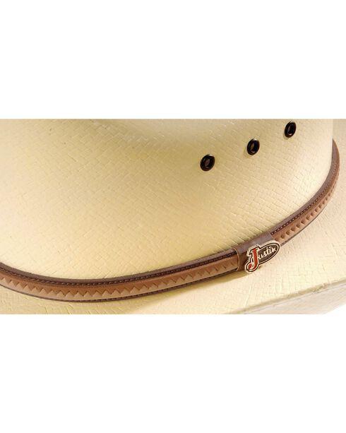 Justin 10X Straw Cowboy Hat, Natural, hi-res