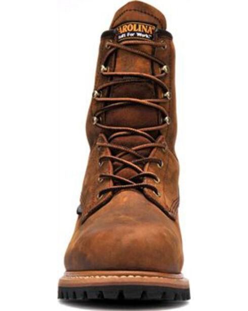 "Carolina Men's Steel Toe 8"" Work Boots, Brown, hi-res"