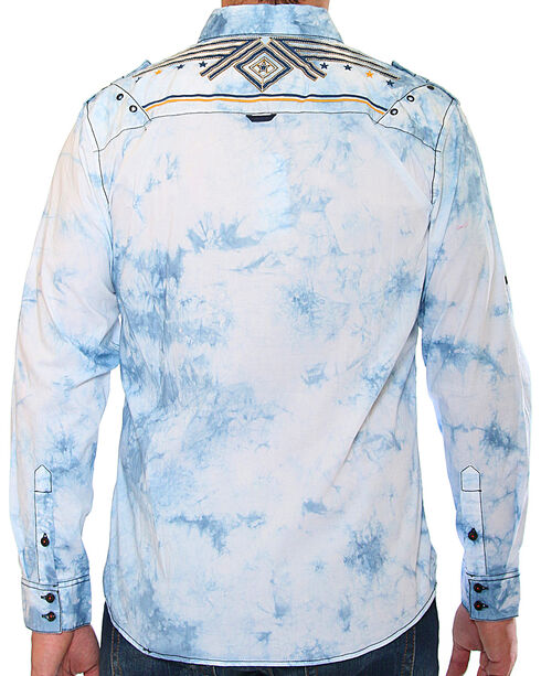Austin Season Men's Long Sleeve Embroidered Button Down Shirt, Light Blue, hi-res