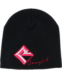 Rock & Roll Cowgirl Women's Embroidered Beanie, , hi-res