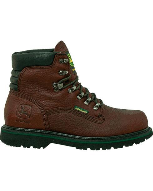 """John Deere® Men's 6"""" Steel Toe Work Boots, Brown, hi-res"""