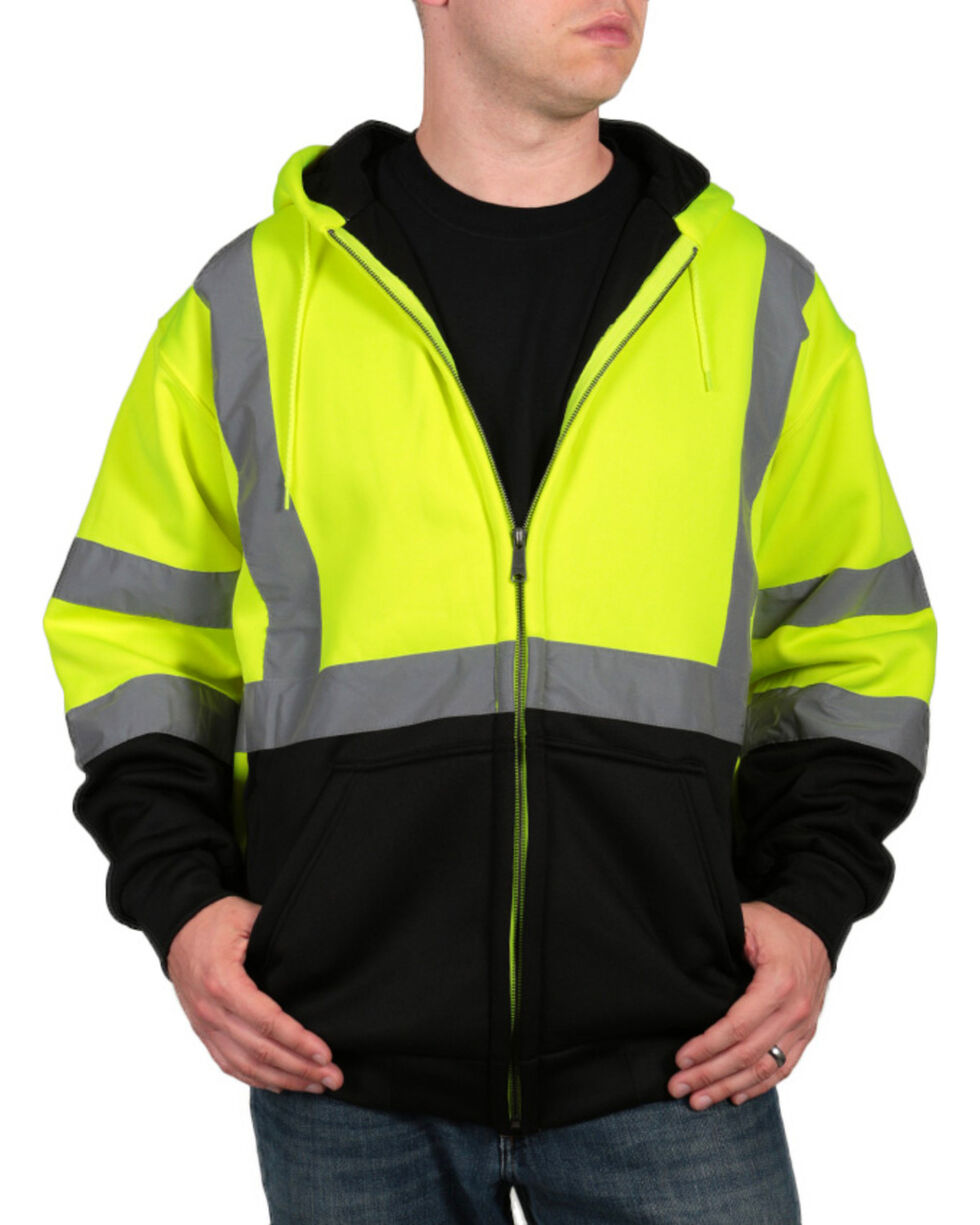 American Worker Men's High Visibility Safety Jacket, Yellow, hi-res