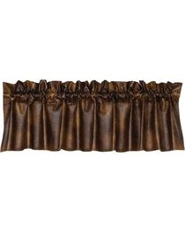 HiEnd Accents Rustic Faux Leather Valance, , hi-res