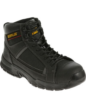 Caterpillar Men's Black Regulator Work Boots - Steel Toe , Black, hi-res