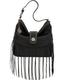 Bandana by American West Black Rio Rancho Hobo Shoulder Bag , , hi-res