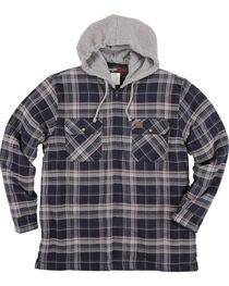 Wrangler Riggs Workwear Men's Navy Hooded Flannel Jacket , , hi-res