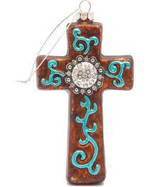 BB Ranch Western Cross and Rhinestone Concho Ornament, , hi-res